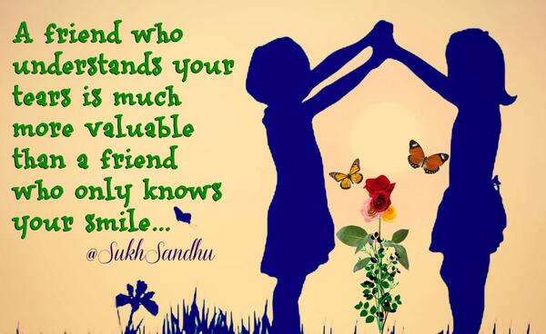 Picture quote about friend