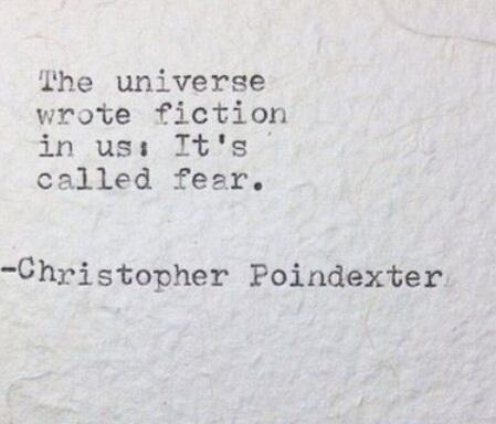 Crime fiction quote The universe wrote fiction is us. Its called Fear.