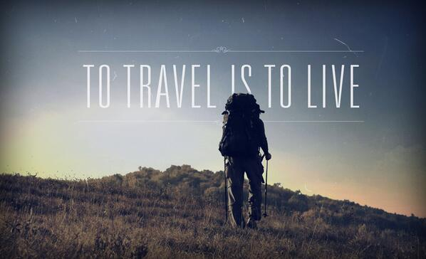 Hans Christian Andersen quote To travel is to live.