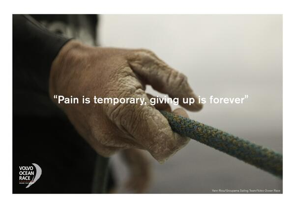 Forever quote Pain is temporary, giving up is forever.