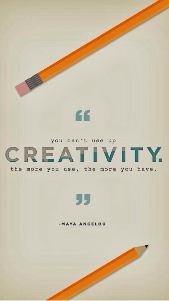 Picture quote by Maya Angelou about creativity