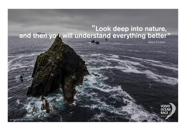 Picture quote by Albert Einstein about nature