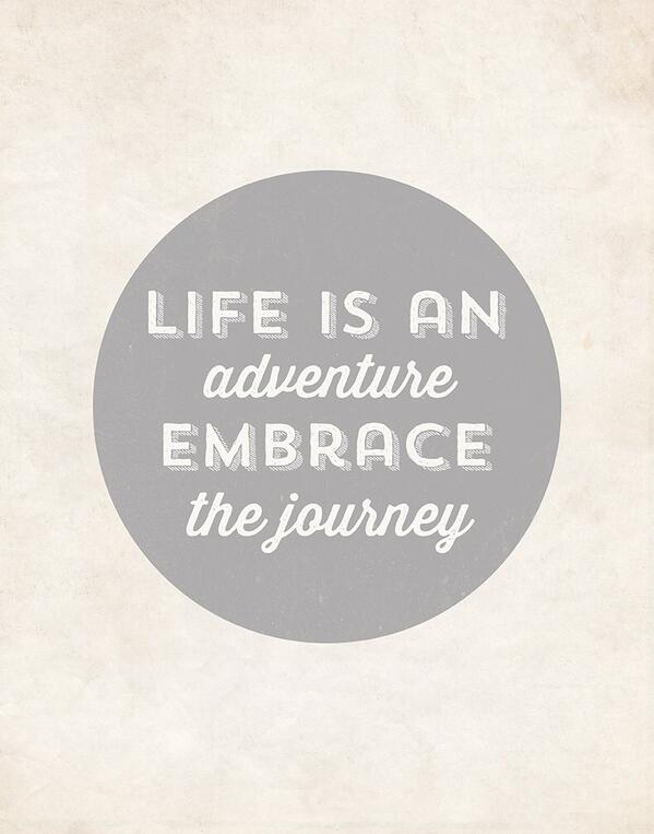 Picture quote about adventure