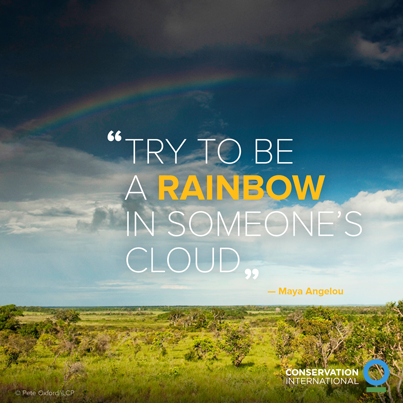 Rainbow quote Try to be a rainbow in someones cloud.