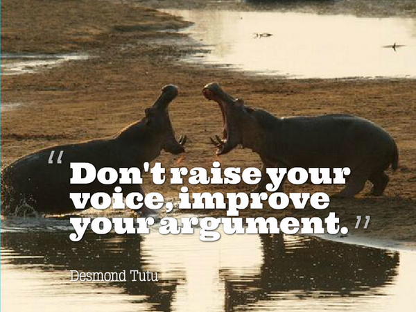 Argument quote Don't raise your voice, improve your argument.