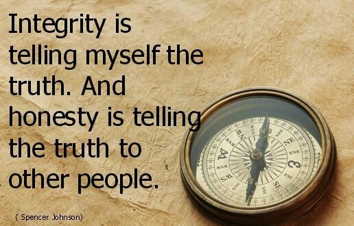 Honesty quote Integrity is telling myself the truth. And honesty is telling the truth to other
