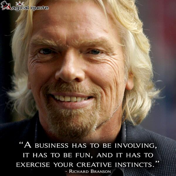 Picture quote by Richard Branson about business