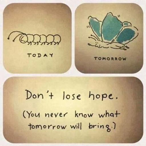 Picture quote about hope