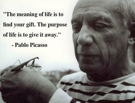 Purpose and meaning quote The meaning of life is to find your gift. The purpose of life is to give it away