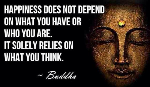 Exist quote Happiness does not depend on what you have or who you are. It solely relies on w