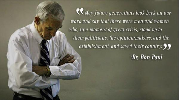 Establishment quote May future generations look back on our work and say that these men and women wh
