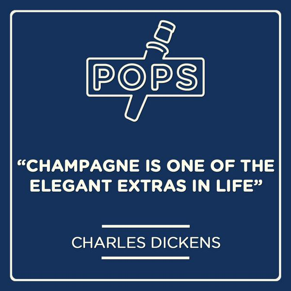 Champagne is one of the elegant extras in life. - Charles Dickens