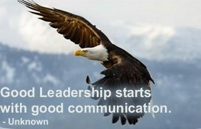 Communication quote Good leadership starts with good communication.