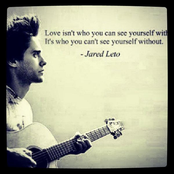 Without love quote Love isn't who you can see yourself with. It's who you can't see yourself withou