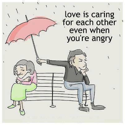 Angry quote Love is caring for each other even when you're angry.