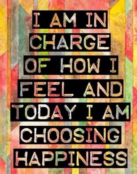Charge quote I'm in charge of how i feel and today I'm choosing happiness
