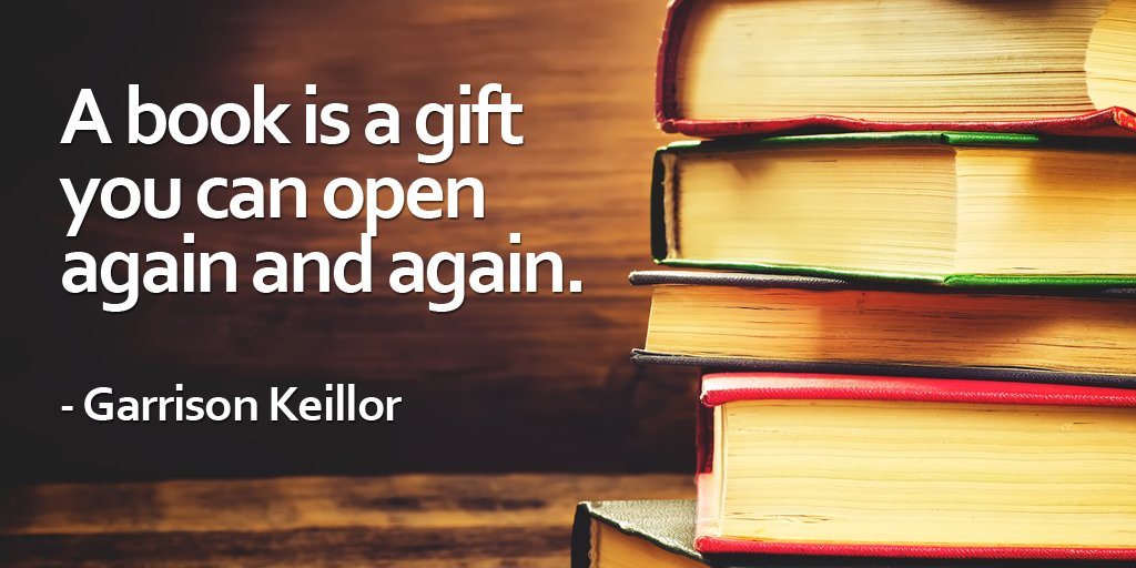 Pen quote A book is a gift you can open again and again.