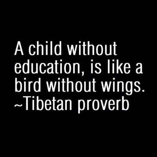 Wing quote A child without education, is like a bird without wings.