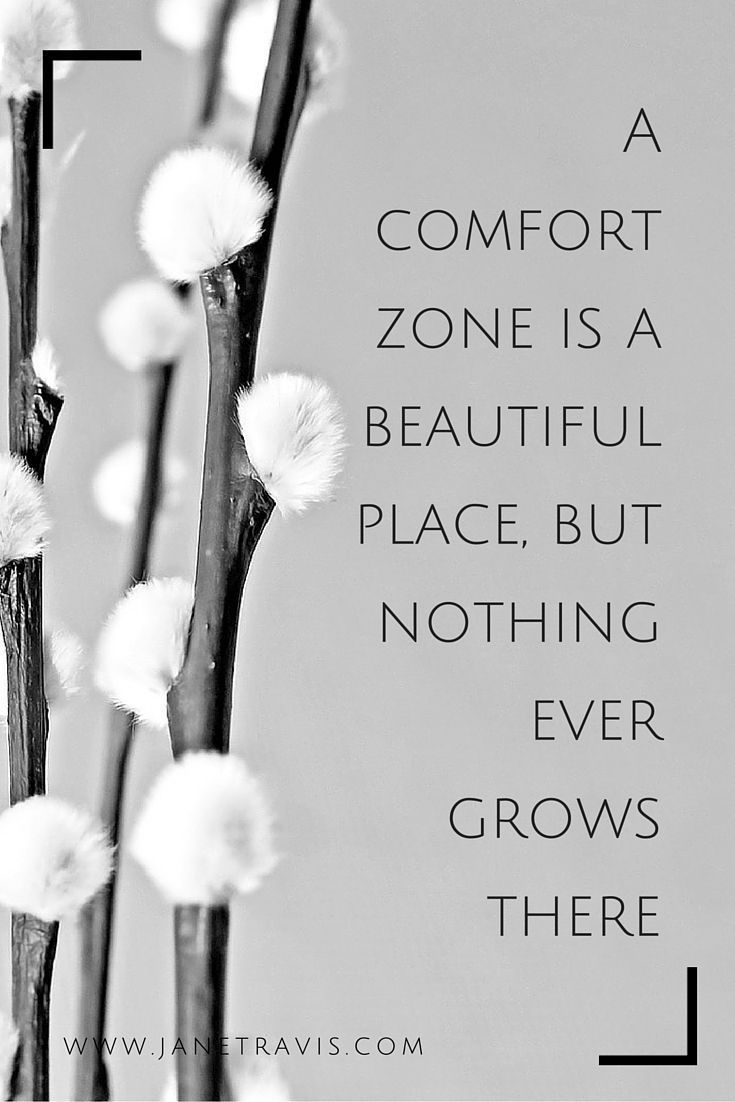 Place quote A comfort zone is a beautiful place, but nothing ever grows there.
