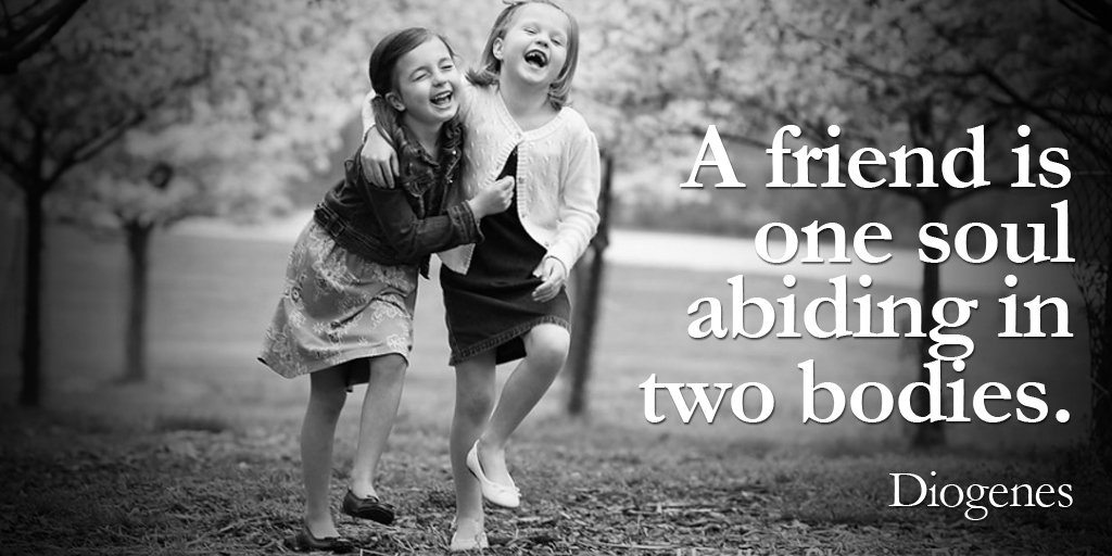 Friendship quote A friend is one soul abiding in two bodies.