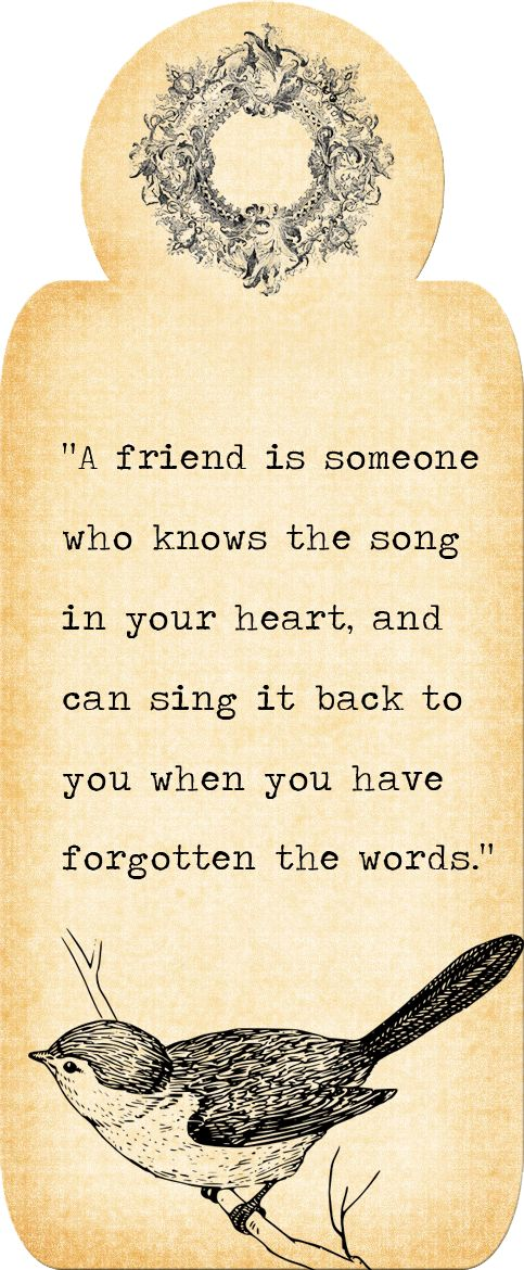 A friend is someone who knows the song in your heart, and can sing it back to you when you have forgotten the words. - Sayings