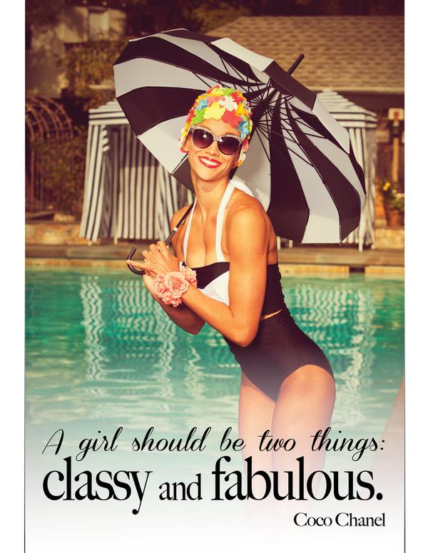 Middle class quote A girl should be two things: classy and fabulous.