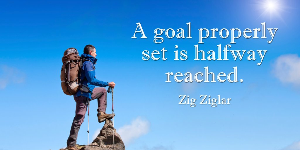 Reach quote A goal properly set is halfway reached.