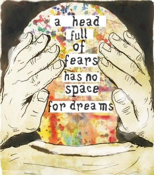 Full quote A head full of fears has no space for dreams.