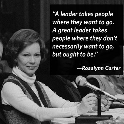 Leadership quote A leader takes people where they want to go. A great leader takes people where t