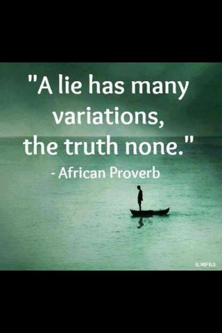 Lying bed quote A lie has many variations, the truth none.