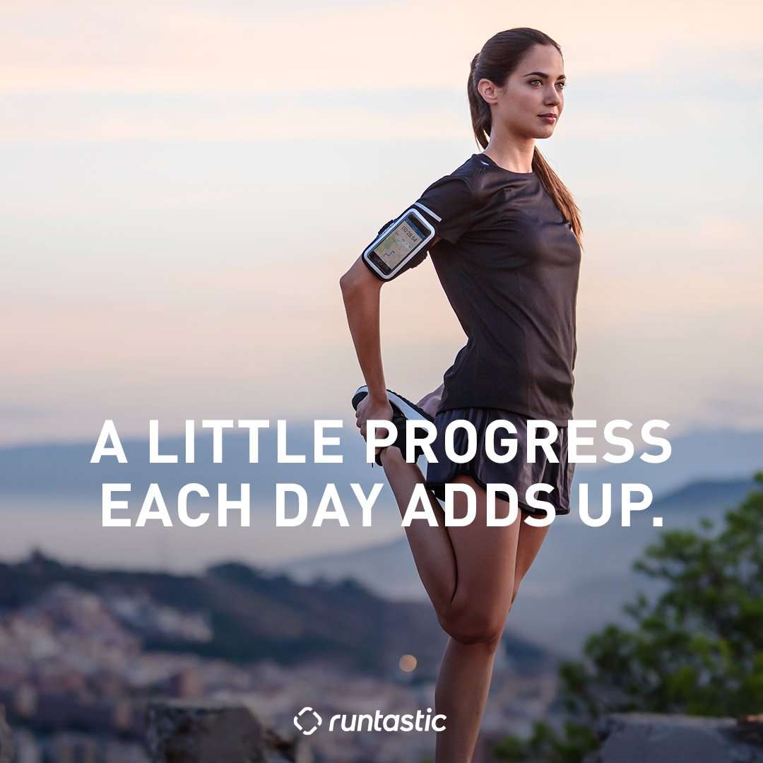 Fitness quote A little progress each day adds up.
