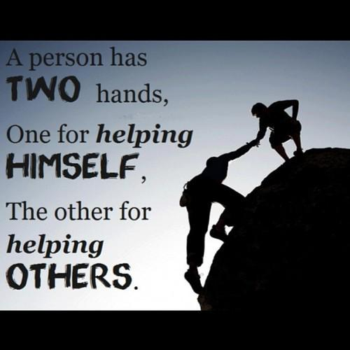 Picture quote about help