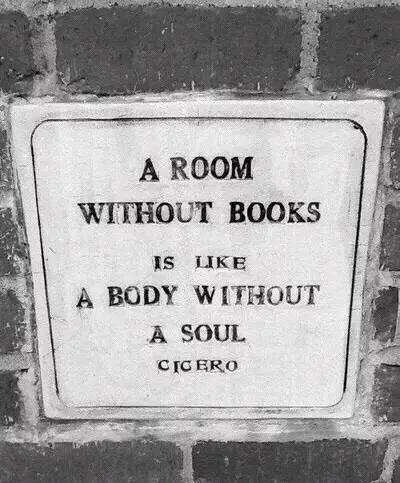 Healthy body quote A room without books is like a body without a soul.