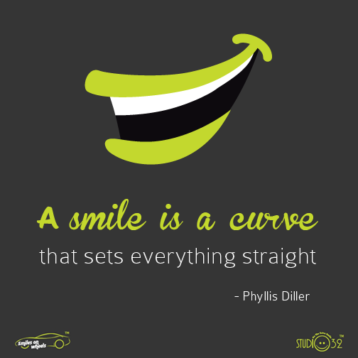 Curves quote A smile is a curve that sets everything straight!