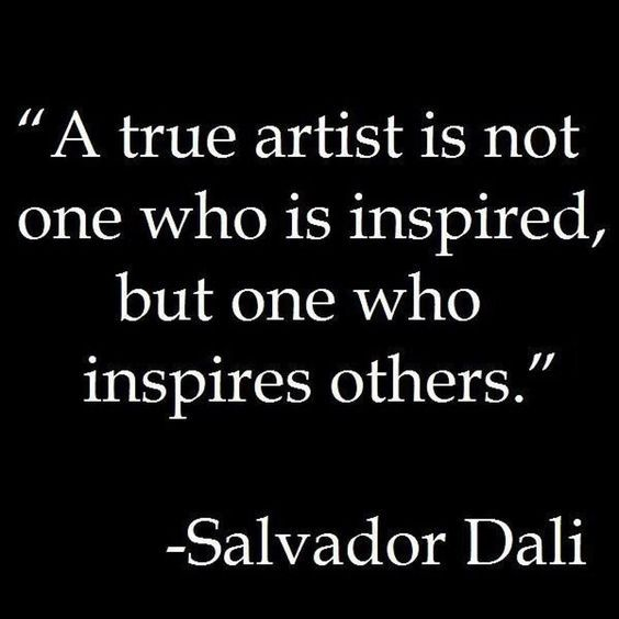 Picture quote by Salvador Dali about inspirational