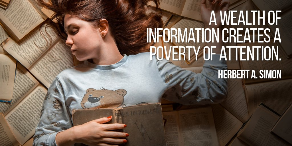 Health wealth quote A wealth of information creates a poverty of attention.