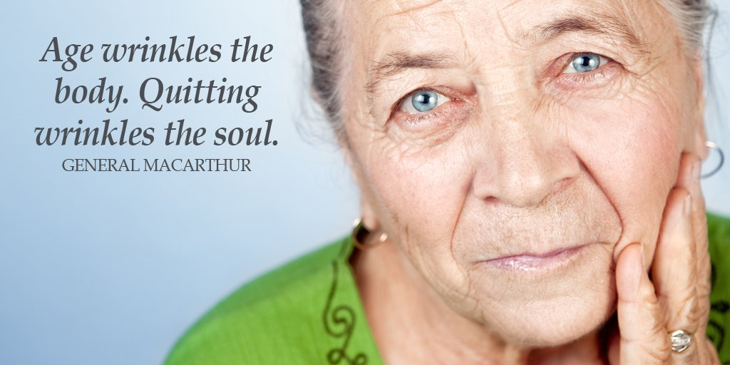 Ages quote Age wrinkles the body. Quitting wrinkles the soul.