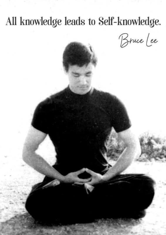 Picture quote by Bruce Lee about knowledge