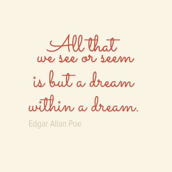Picture quote by Edgar Allan Poe about dream