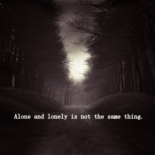 Aloneness quote Alone and lonely is not the same thing.
