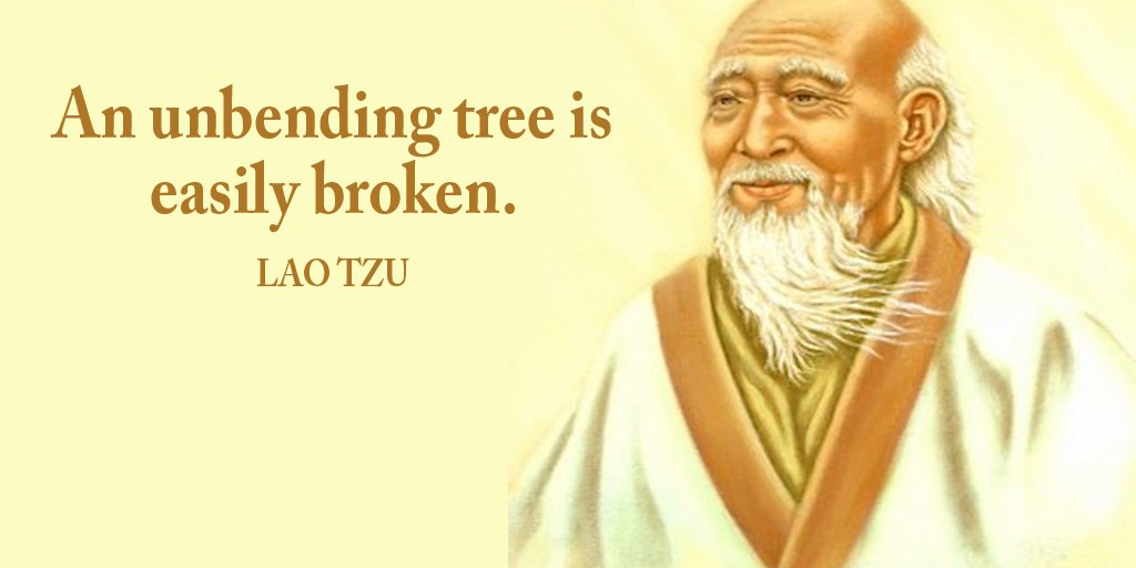 Bending quote An unbending tree is easily broken.