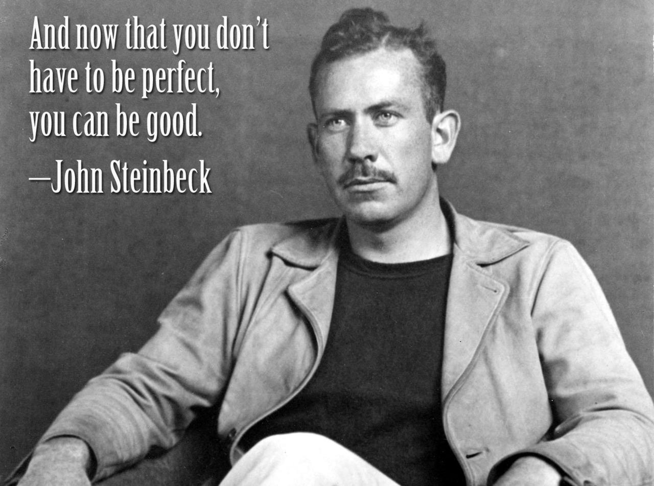 Perfection quote And now that you don't have to be perfect, you can be good.