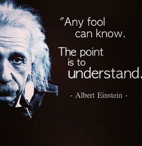 Knowledge quote Any fool can know. The point is to understand.