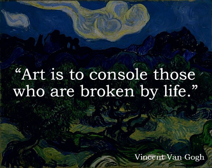 Picture quote by Vincent Van Gogh about art