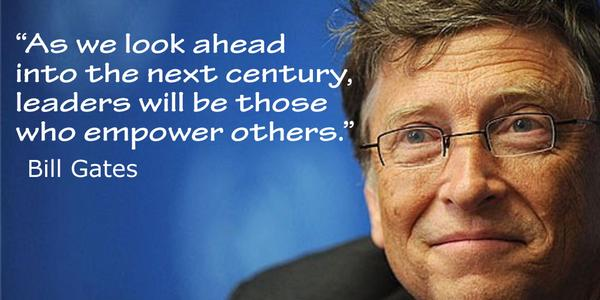 Nineteenth century quote As we look ahead into the next century, leaders will be those who empower others