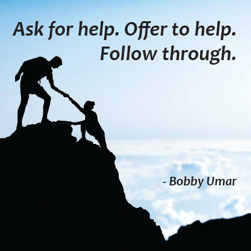 Picture quote by Bobby Umar about help