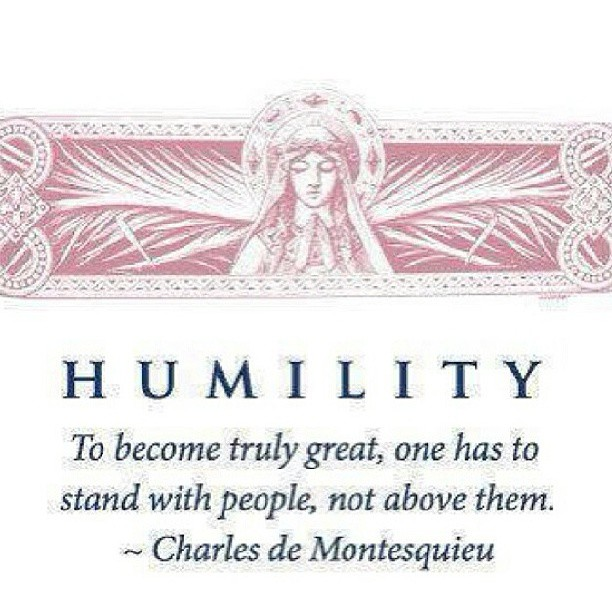 Humility quote To become truly great, one has to stand with people, not above them.