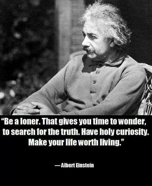 Wonder quote Be a loner. That gives you time to wonder, to search the truth. Have holy curios