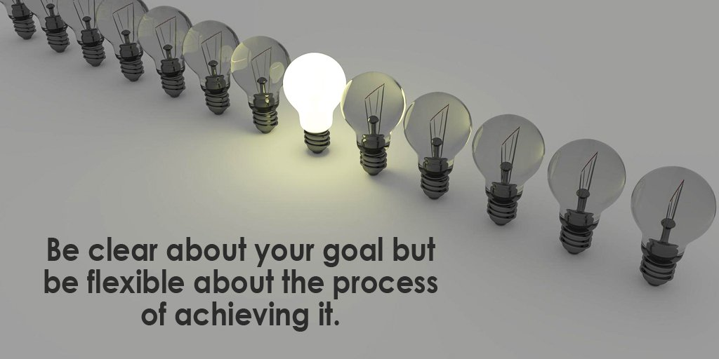Systems and processes quote Be clear about your goal but be flexible about the process of achieving it.