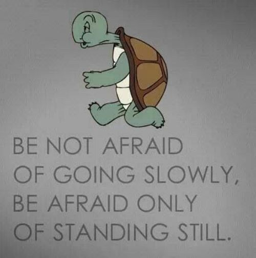 Where you stand quote Be not afraid of going slowly, be afraid only of standing still.